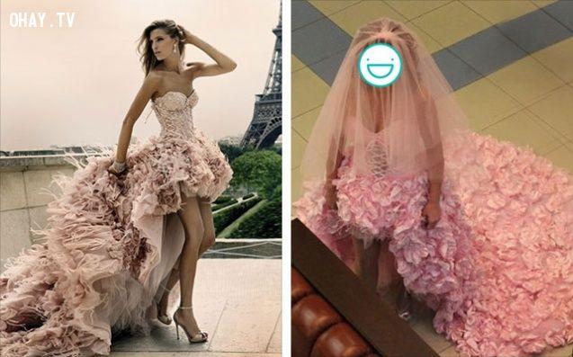 ảnh thảm họa thời trang,mua hàng qua mạng,phiên bản lỗi