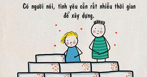 """Thú vị với bộ truyện tranh \""""Người ta nói tình yêu là\"""""""