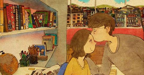 40 bức tranh siêu dễ thương sẽ cho bạn thấy tình yêu thực sự là như thế nào