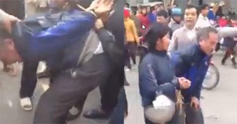 2 vợ chồng già đi móc túi bị đánh tàn nhẫn giữa trời đông
