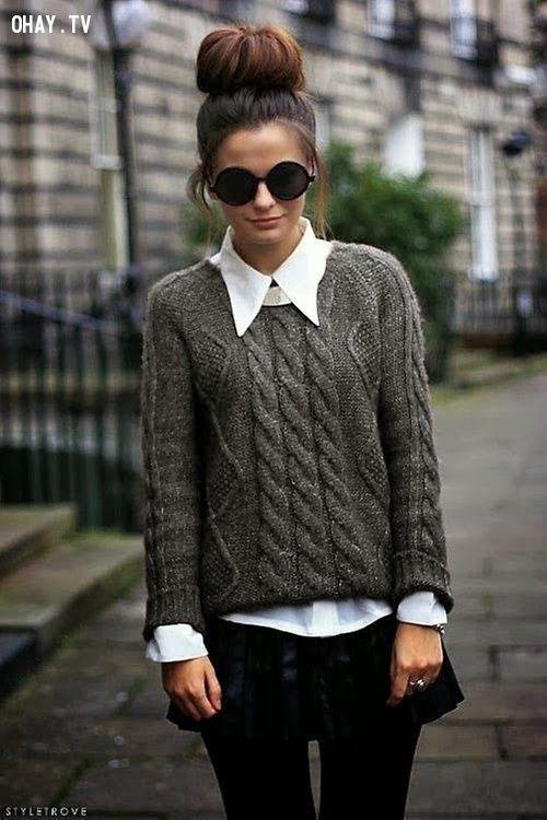 ảnh áo len,thời trang mùa đông,mùa đông