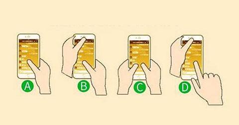 Cách cầm điện thoại nói lên điều gì về tính cách của bạn?