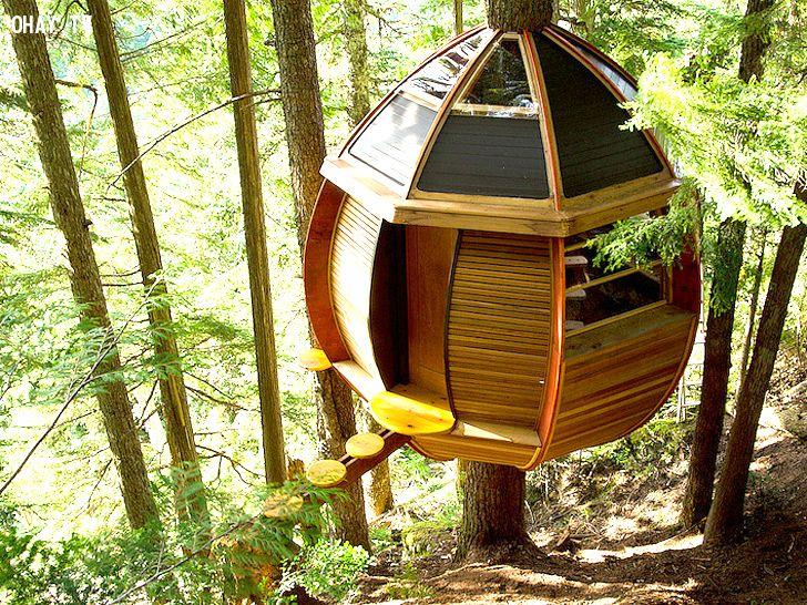 Nhà cây hình quả trứng tại Canada