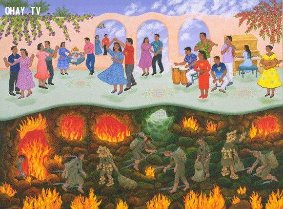 ảnh thiên đường,địa ngục,luật nhân quả