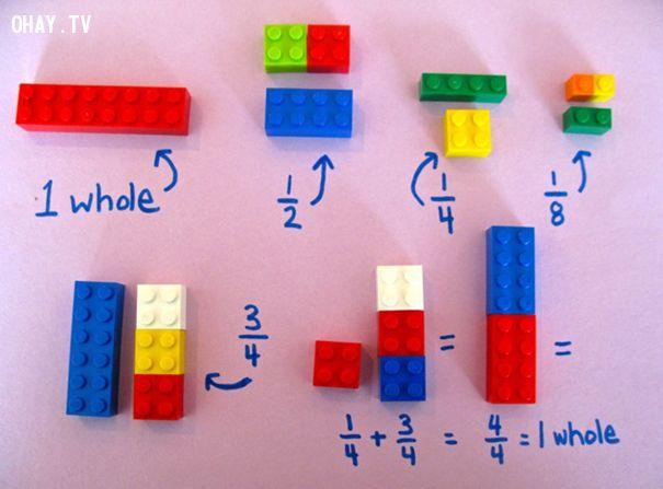 ảnh phương pháp dạy toán,toán học,xếp hình lego,lego