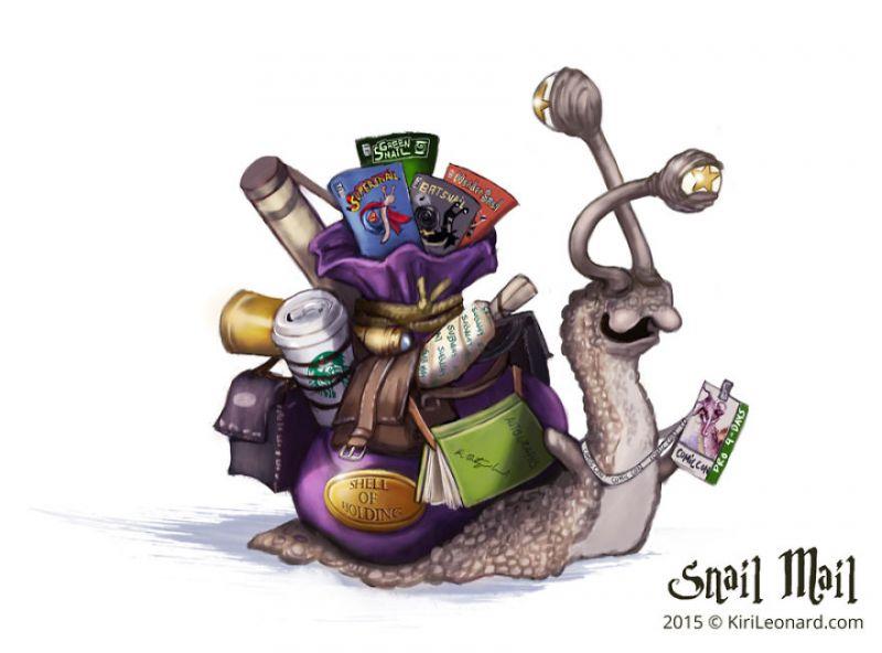 ảnh ốc sên,snail mail,Kiri Ostergaard Leonard