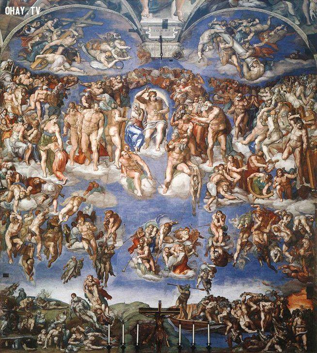 """""""Đại Thẩm Phán cuối cùng"""" của danh họa người Ý Michelangelo Buonarroti. (Ảnh: Wikimedia) hình ảnh"""