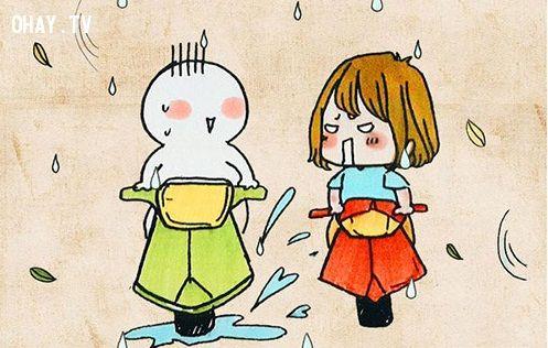 ảnh muốn chửi bậy,trời mưa,khoảnh khắc khó đỡ,khoảnh khắc muốn chửi bậy