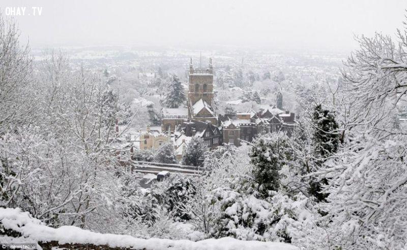 Sapa mùa đông có tuyết phủ trắng xóa