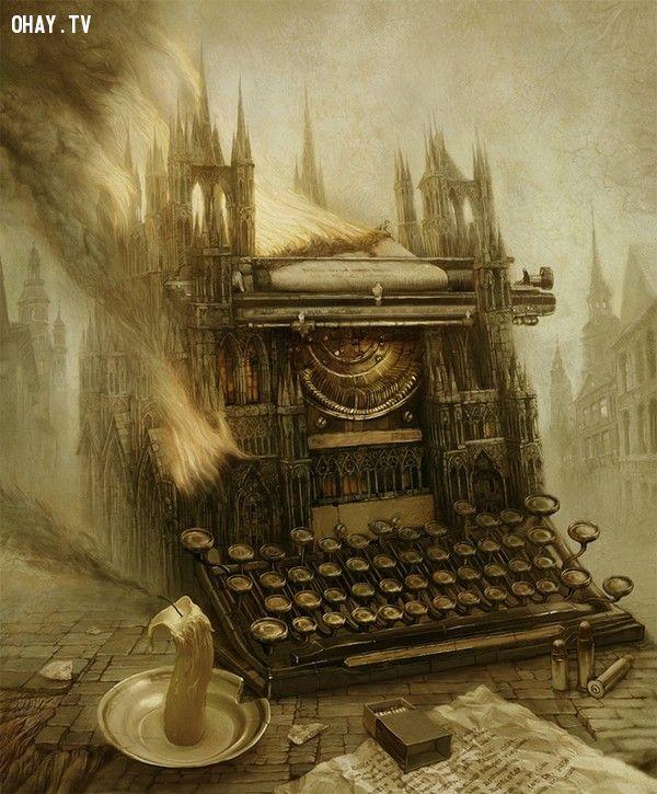 ảnh nghệ thuật,ma quái,digital art,bức tranh u ám,bức tranh ma quái,suy ngẫm