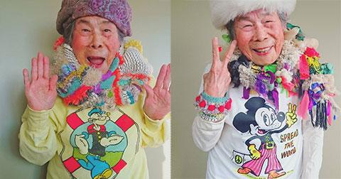 Bà ngoại 93 tuổi làm mẫu ảnh cho quần áo cháu gái làm