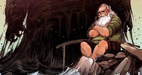 """Ứa nước mắt với """"Ông lão đánh cá và con cá vàng"""" phiên bản truyện tranh Việt."""