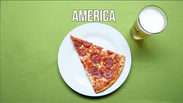 mồi nhậu với bia của người mỹ