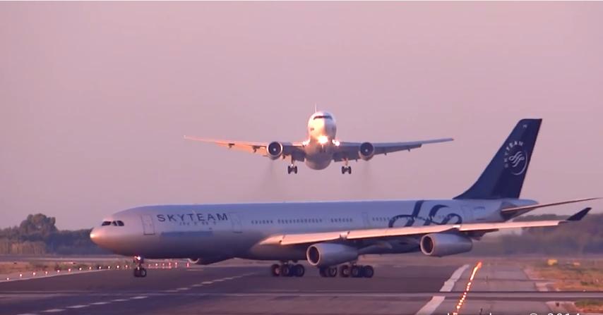 Boeing 767-300 suýt va chạm với Airbus A340-300 ở sân bay Barcelona