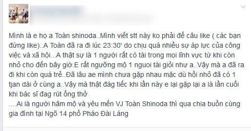 toàn shinoda tự tử