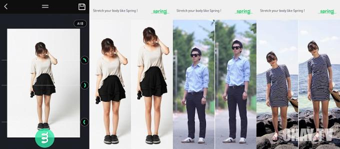 Ứng dụng tăng chiều cao khi chụp hình - Spring