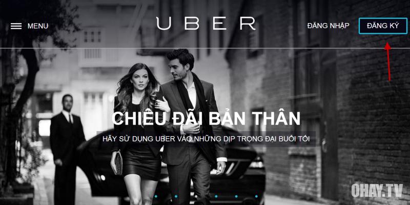 đăng ký tài khoản uber