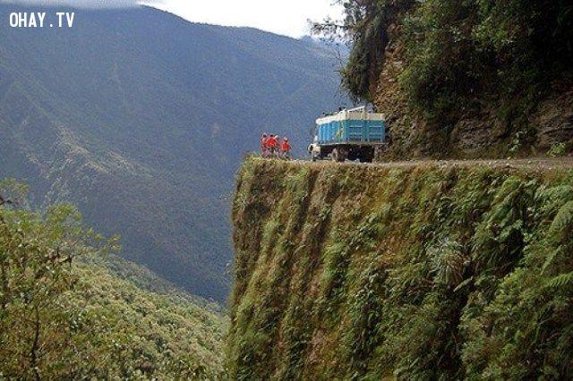 Đường  North Yunga, Bolivia