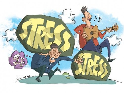ảnh stress,giảm stress,vượt qua stress,cảm thấy stress