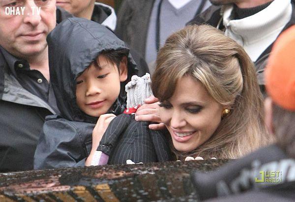 ảnh Pax Thiên,Angelina Jolie,Brad Pitt,Shiloh,Maddox,Zahara