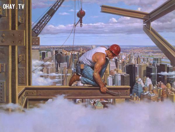 ảnh công việc nguy hiểm,nghề nghiệp,tai nạn lao động,an toàn lao động