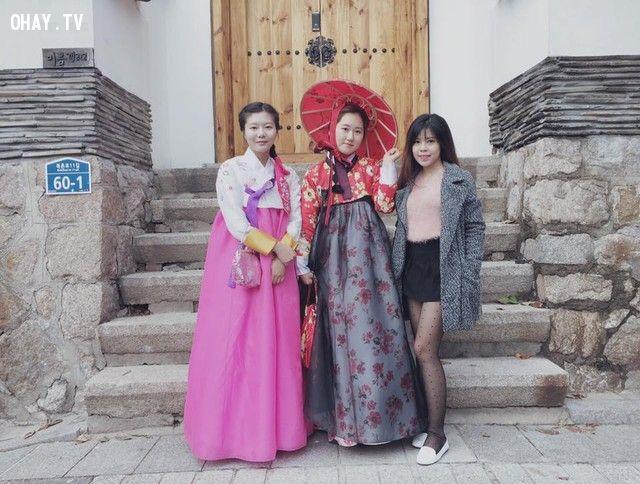 Bức ảnh về chuyến đi du lịch Hàn Quốc tự túc của bạn Lâm Ngọc Minh được chia sẻ trên Facebook