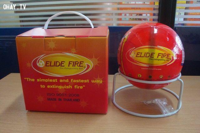 ảnh elide fire ball,bóng chữa cháy elide,bom chữa cháy,chữa cháy,sản phẩm độc đáo