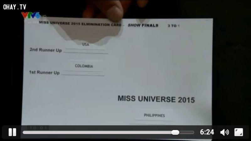 ảnh Hoa hậu hoàn vũ 2015,Steve Harvey,nhầm lẫn kết quả,miss universe 2015,ngôn ngữ cơ thể