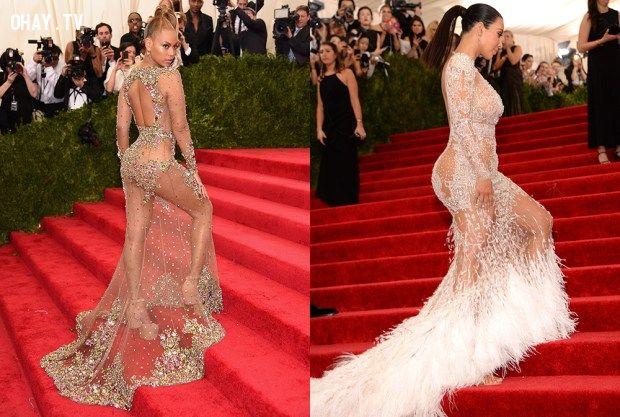 Kim Kardashian and Beyonce tại MET Gala