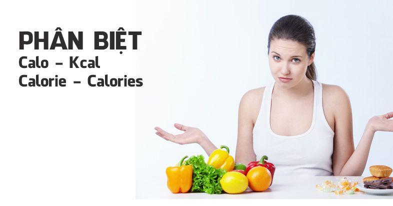 Phân biệt Calo, Kcal, Calorie và Calories