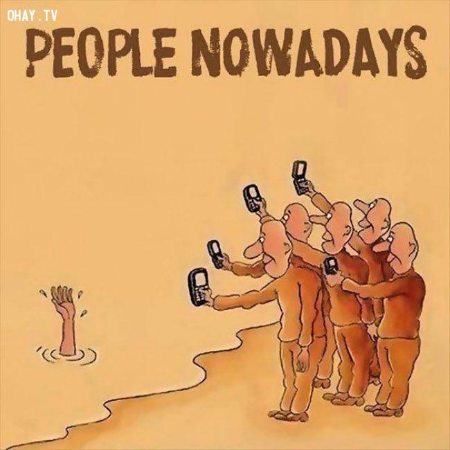 ảnh ảnh biếm họa,tranh biếm họa,nô lệ công nghệ,thời đại công nghệ,mặt trái của công nghệ
