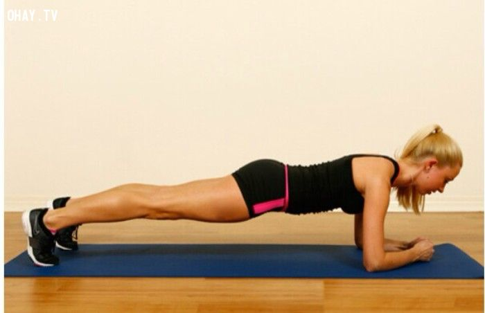Hướng dẫn tập động tác plank đánh tan mỡ bụng trong vòng 1 tháng