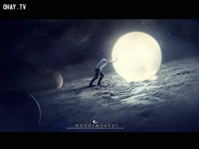 Đẩy trăng - Người Mua Vui (Trần Công) - (Bức ảnh hút gần 10k like chỉ trong 1 giờ)