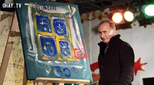 Khi các nhà lãnh đạo thế giới vẽ tranh