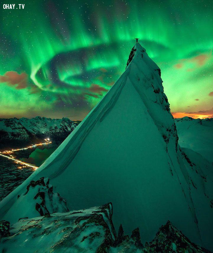 Bức ảnh kỳ diệu về con người và thiên nhiên