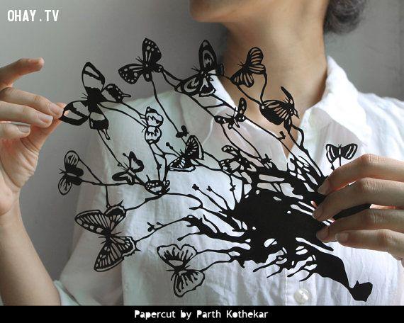 ảnh cắt giấy,nghệ thuật cắt giấy,nghệ nhân cắt giấy,Parth Kothekar