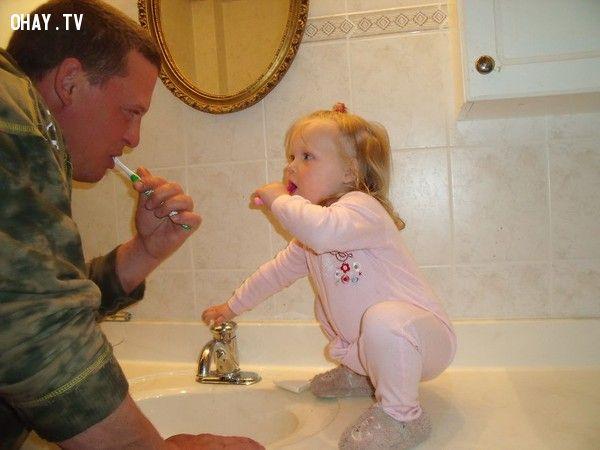 Chùm ảnh về sự đáng yêu giữa bố và con gái