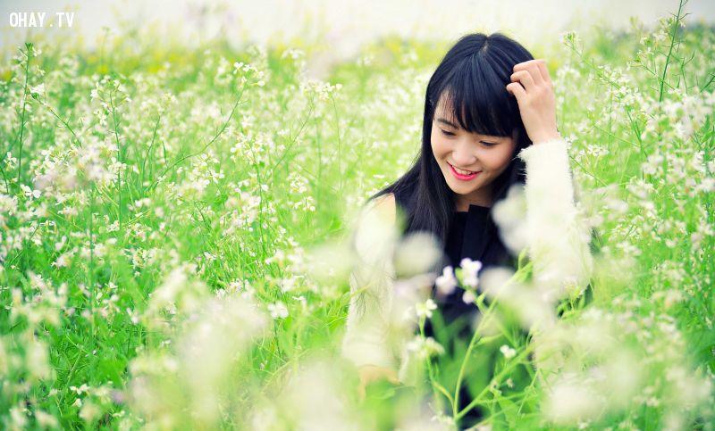 Mô tả hình ảHoa cải trắng chỉ có vòng đời khoảng 20 ngày. Vì vậy, để có thể được chiêm ngưỡng cánh đồng hoa này, nhiều bạn trẻ đã không quản ngại đường xa để được hoà mình vào giữa cánh đồng hoa cải.nh