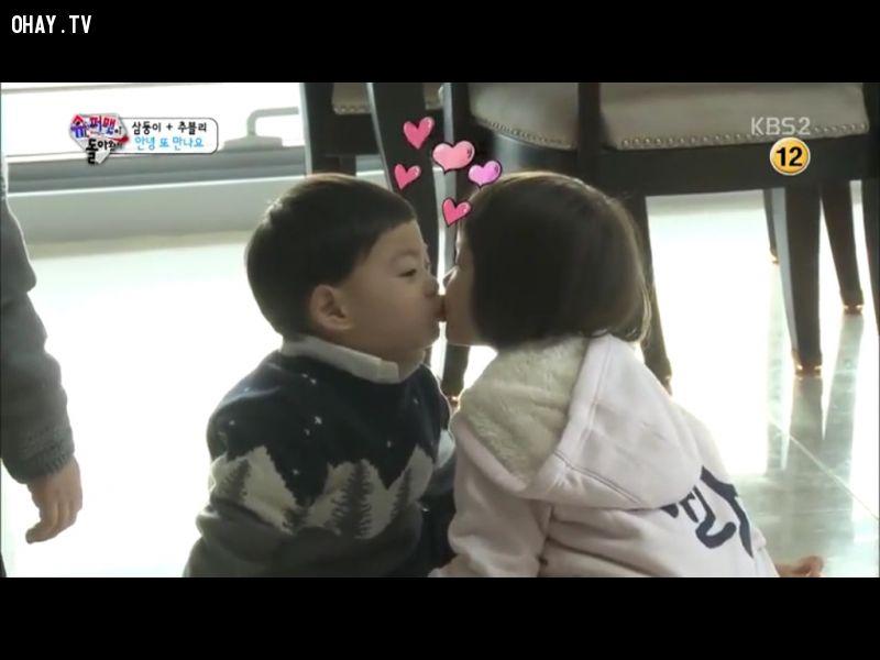 Manse và Sarang là cặp đôi yêu thích trên chương trình