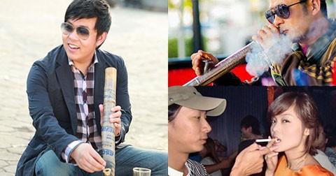Khi sao Việt kè kè thuốc lào, thuốc lá