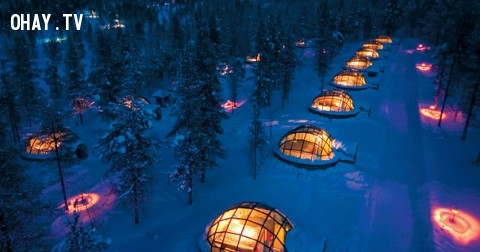 Ngôi làng Lều tuyết,  một điểm đến tuyệt vời của Bắc cực