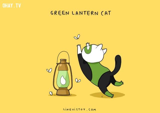 Green Lantern Cat!,