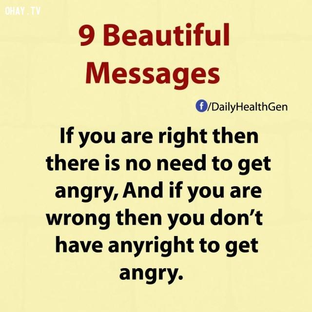 2. Nếu bạn đúng thì không cần thiết phải tức giận. Và nếu như bạn sai thì bạn lại không có quyền để tức giận.,thông điệp cuộc sống,bài học cuộc sống,nguyên tắc sống,sống tốt,sống hạnh phúc