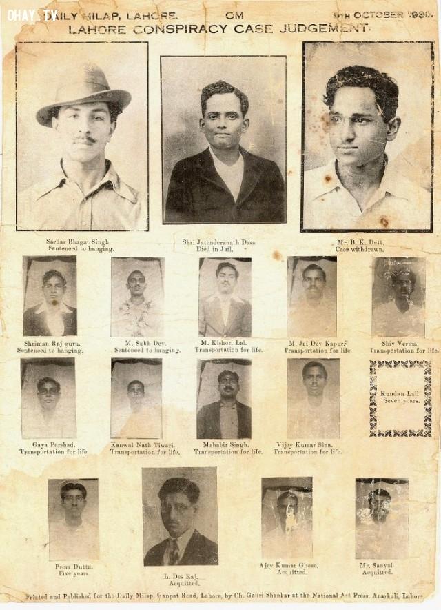 5. tấm áp phích án tử của Bhagat Singh, Sukhdev, Rajguru và những người khác vào năm 1930.,khoảnh khắc lịch sử,ấn tượng lịch sử