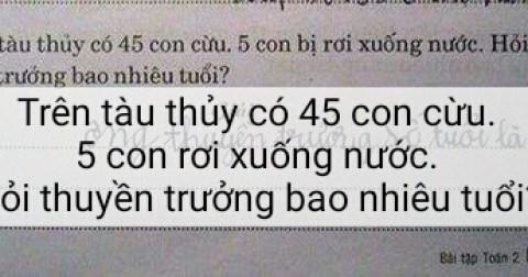Những đề kiểm tra BÁ ĐẠO hại não học sinh nhất Việt Nam