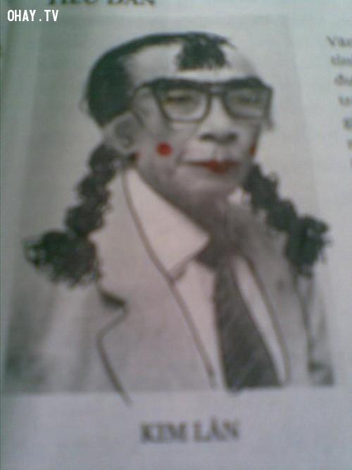Kim Lân phiên bản cute lạc lối.,ảnh chế,học sinh,sách giáo khoa,vẽ bậy