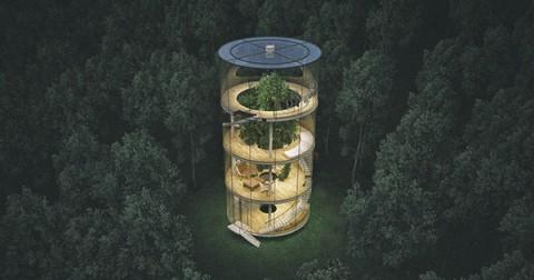 Nhà kính ôm cây - Bạn có thích một ngôi nhà như thế này?