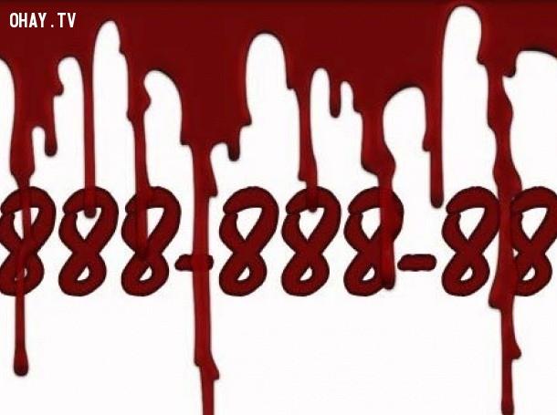 Ở Bungari, 0888888888 là số điện thoại của cái chết,những con số xui xẻo,số ám ảnh đáng sợ,khám phá
