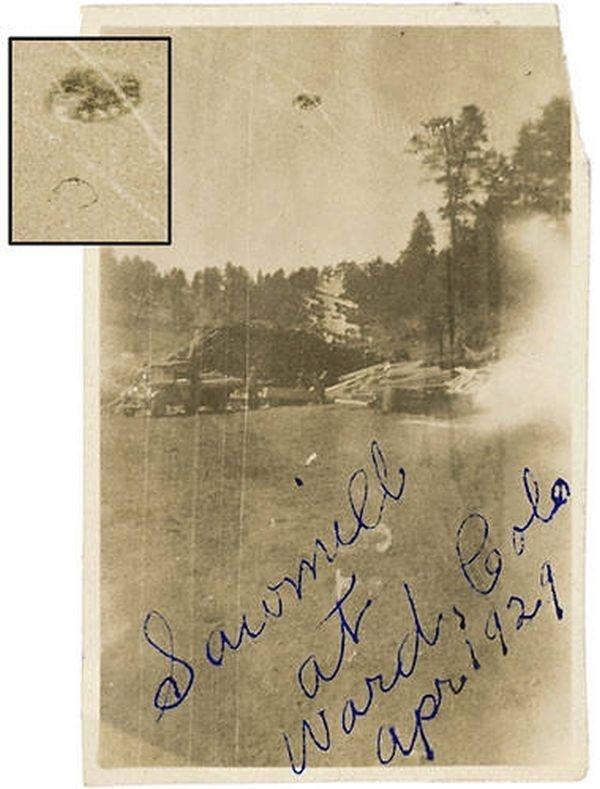 UFO chụp được ở xưởng cưa, bang Colorado, Mỹ, tháng 4 năm 1929,bí ẩn ufo,hình ảnh ufo,khám phá