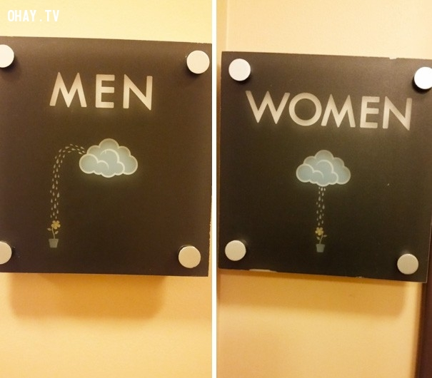 ,dấu hiệu toilet,toilet nam,toilet nữ,sáng tạo